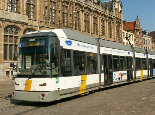 Tramsporen in Gent